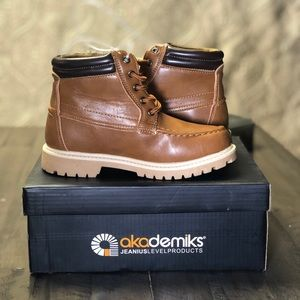🤍Akademiks Boys' Lace-Up Ankle Boots